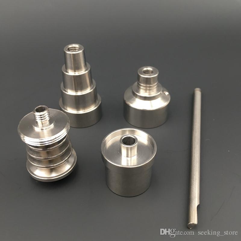 Accessori fumatori Chiodo senza Domestio Titanio Regular Enail Riscaldatore Bobina 6 In 1 Tintaium Nails Tappo Carb Dab Oil Rigs Bong TN06 + TCC01