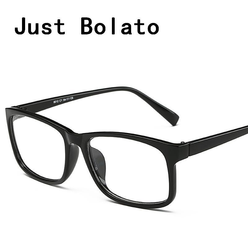 2018 New Square Eyeglasses Frames Men Eyeglasses Black Frame With ...