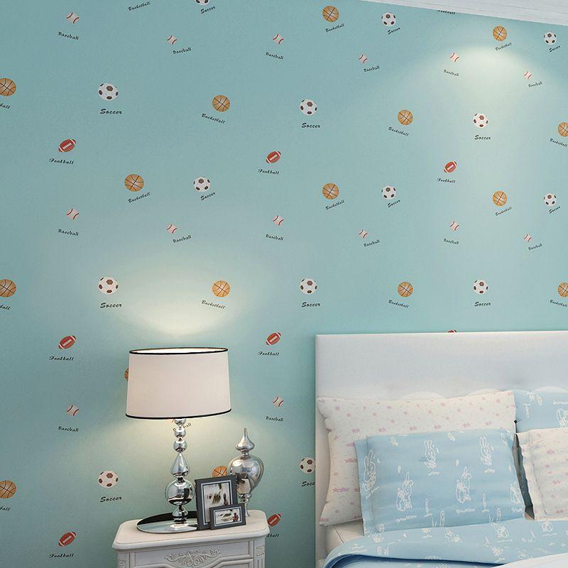 Cartoon Sport Fußball Basketball Rugby Boy Mädchen Kinderzimmer  Schlafzimmer Wanddekoration vlies Fußball Tapete Für Kinderzimmer