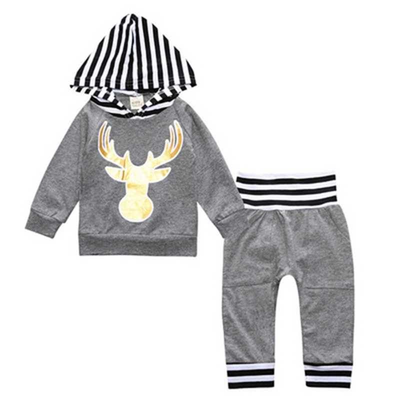 48d6b3a016d57 Christmas Autumn Style Clothes Newborn Children s Sets Cotton Casual ...