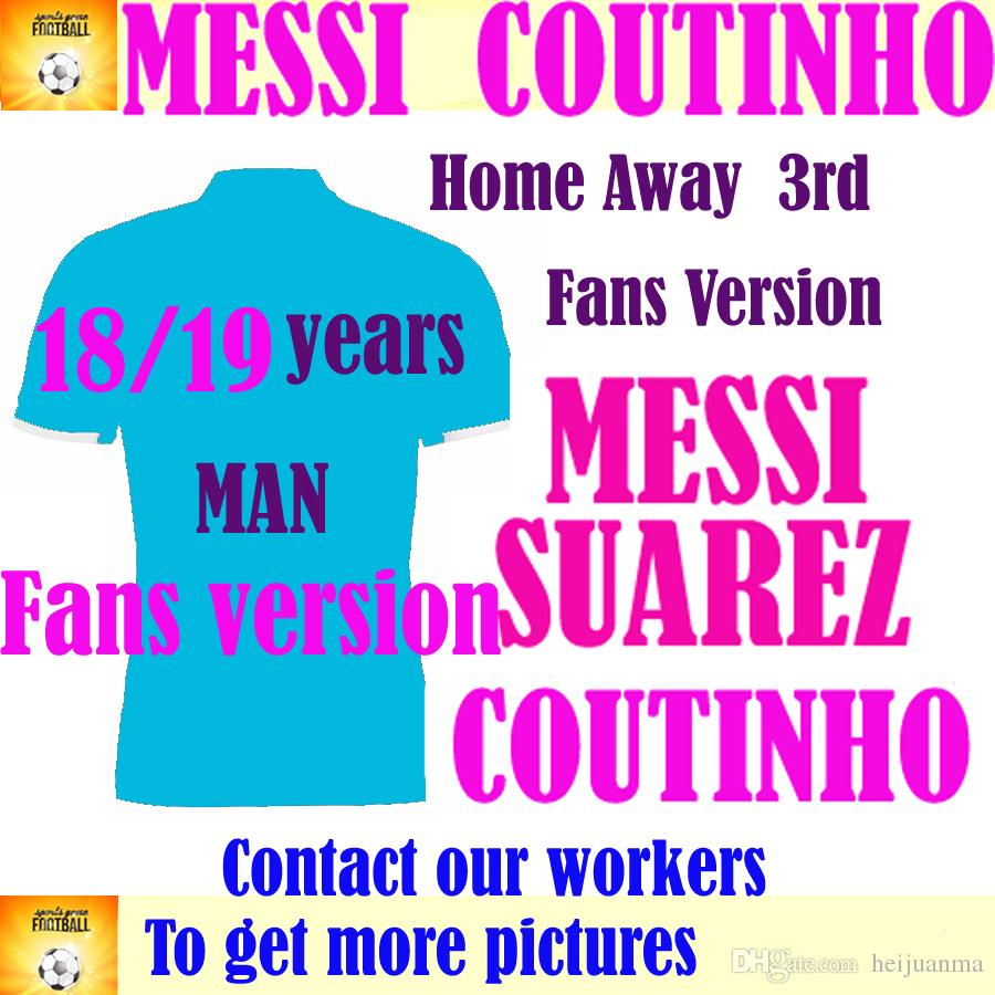 47f6c1ef86b 2019 2019 MESSI COUTINHO Soccer Jersey 18/19 Home Away Soccer Shirt  Customized #11 O.DEMBELE #9 SUAREZ #4 RAKITIC 2018 Football Uniform From  Heijuanma, ...