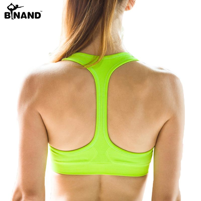 a293dbd239 Cheap Women Sexy Yoga Shirt Padded Sports Bra Push Up Wireless Dry Fit Tank  Tops For Running Fitness Gym Bras