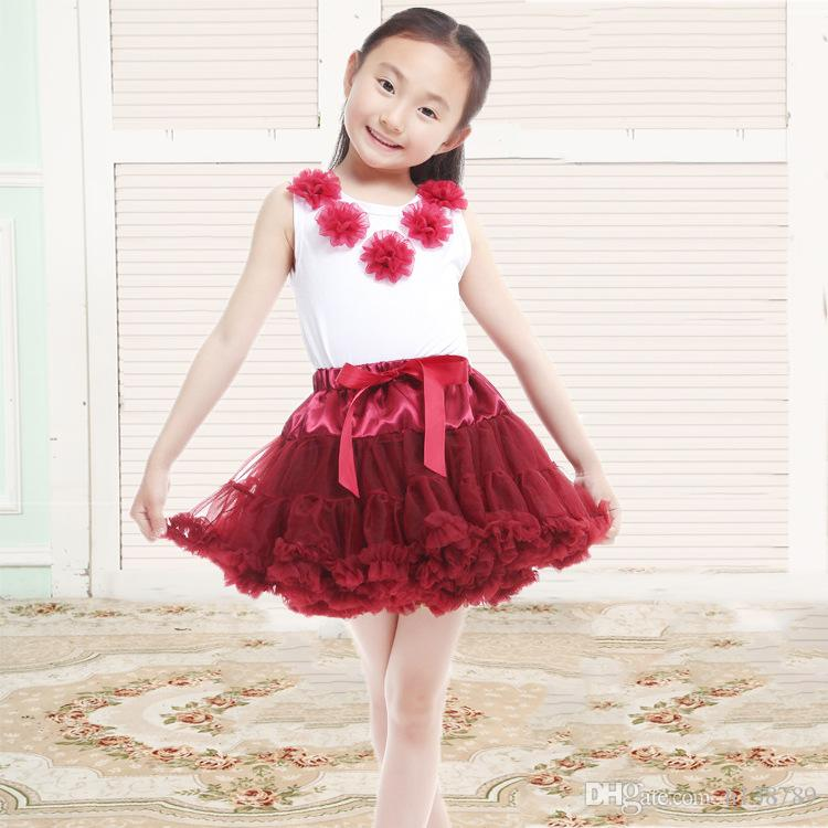 New Baby Girls Tutu Skirt Ballerina Pettiskirt Layer Fluffy Children Ballet Skirts For Party Dance Princess Girl Tulle Miniskirt