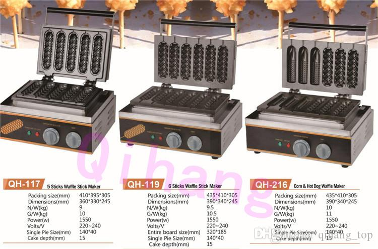 Food processing machine commercial hot dog waffle stick maker/hot dog lolly waffle stick making machine