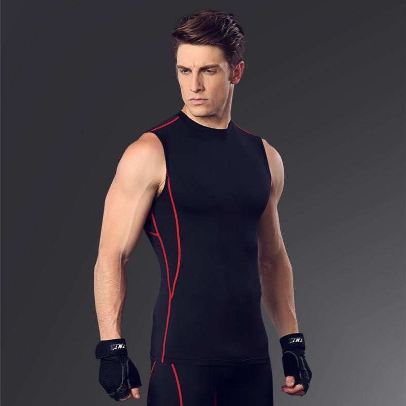 85d7682a1d8b7 2019 Men  S Body Slimming Compression Sleeveless Tight T Shirt Fitness Moisture  Wicking Workout Vest Muscle Tank Top From Sport2017