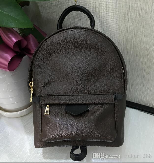 3288fb605646 AAA + высокое качество оригинальные женские Palm Springs мини рюкзак из натуральной  кожи дети рюкзаки женщины печати кожа мини рюкзак 41560