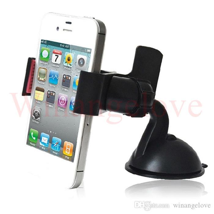 El soporte para parabrisas de 360 grados del coche del parabrisas del coche monta el soporte de los titulares representa iPhone5 4S para Samsung Smartphone