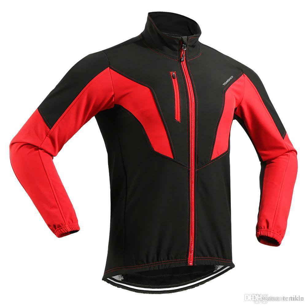 TOMSHOO Men s Winter Warm Thermal Bicycle Jackets Outdoor Sport Long Sleeve  Windproof Coat MTB Bike Riding Clothes Sportswear Sportswear Clothes  Sportswear ... d974ec329