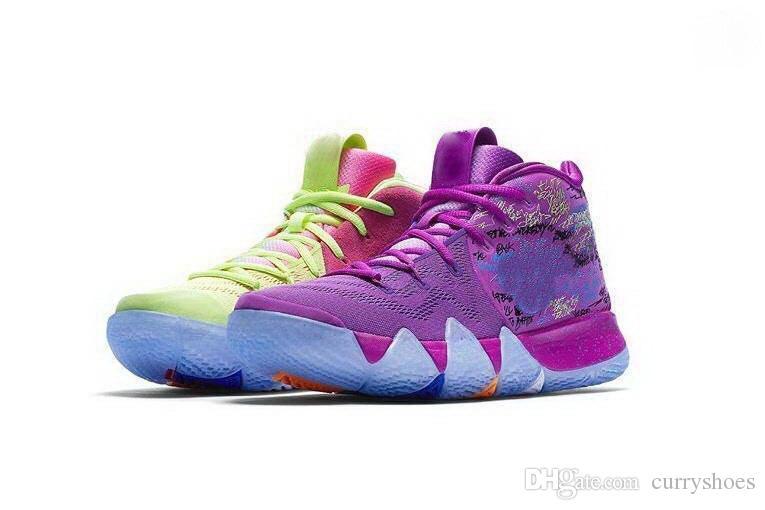 61080aea3 Atacado New Confetti crianças sapatos baratos venda Irving 4 Qualidade  superior das mulheres dos homens de Basquete sapatos frete grátis loja  tamanho 36-46