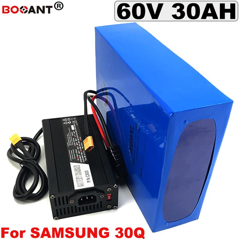 60V 30AH E-bike Lithium ion battery for 2000W 3000W motor Rechargeable Electric Bicycle battery 60V +5A Charger Free Shipping