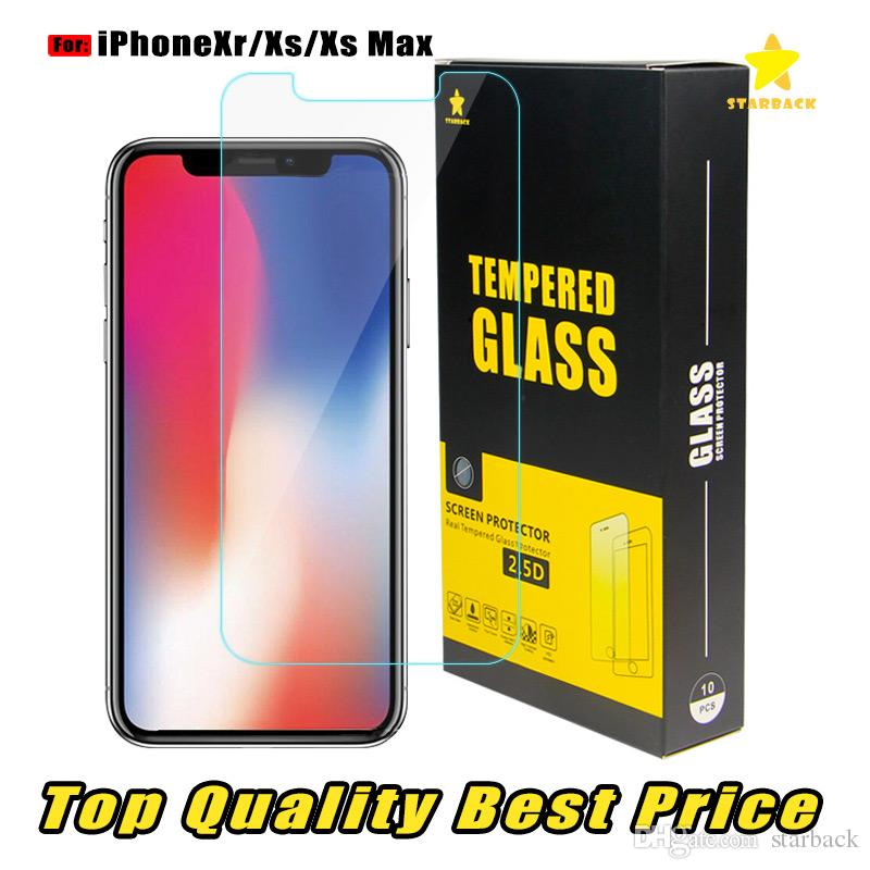 For Iphone 8 Plus iPhone XR XS Max Top Quality Best Price Tempered Glass Screen Protector 2.5D Ship Out Within 1 Day