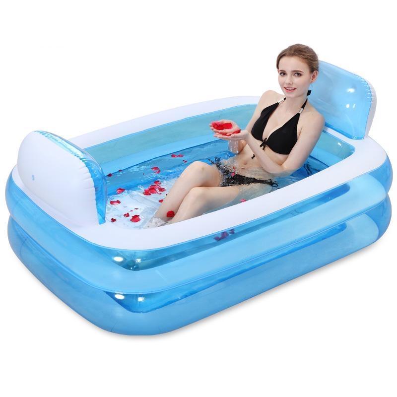 Inflatable Bathtub Folding Tub Thickening Adult Bathtub Child Bath ...