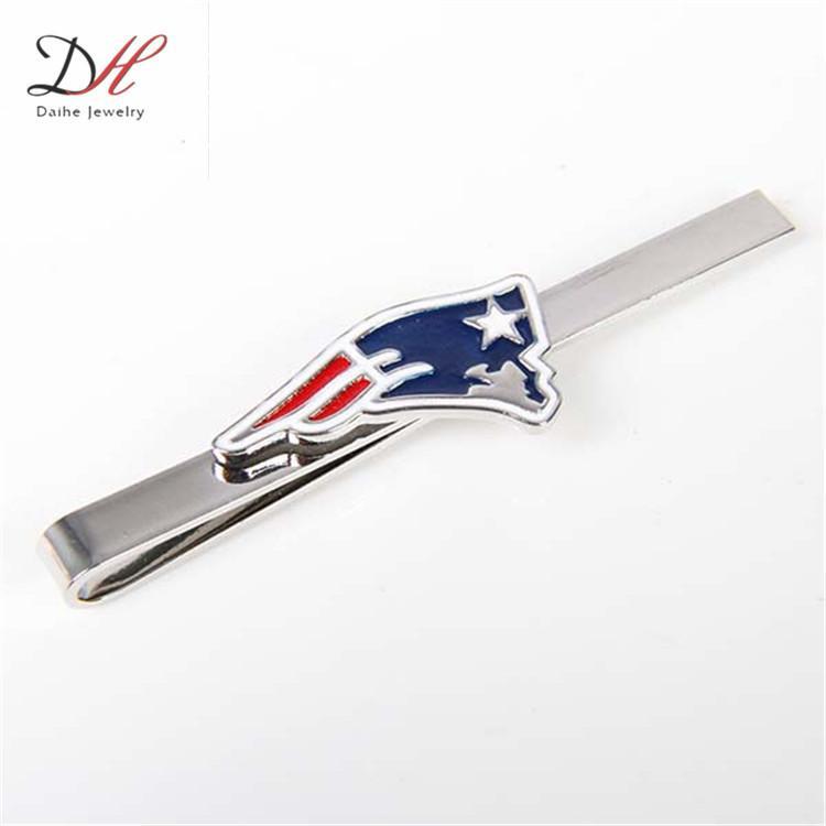 Daihe CF0768 National Football New England Patriots Gemelos y clip de dinero, Juego de regalo con clip de corbata Cufflink Wallet