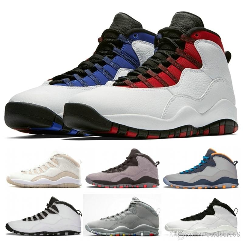 091cc0986d6 2019 New Top 10 Mens Basketball Shoes 10s Chicago OVO Black Men Shoes Best  Quality Cement I M Back Athletics Game Sneakers Size 40 47 From Outdoor168
