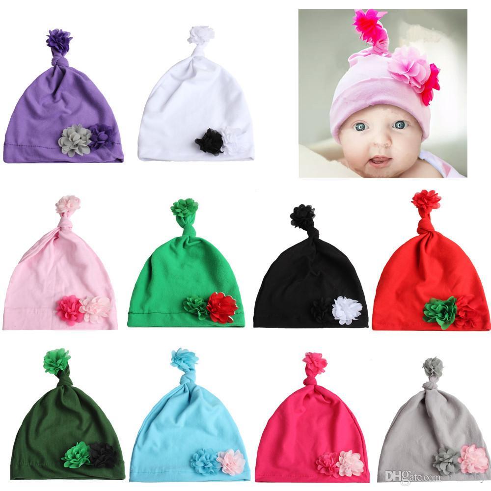Compre Bebé Unisex Sombrero De Navidad Flor De Gasa Recién Nacida ...