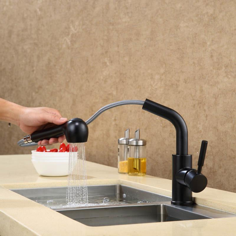 Kitchen Faucet Pull Out Sprayer Springs Brass