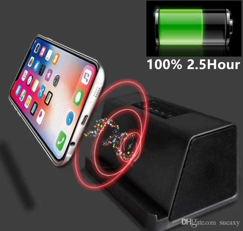 New 4000mA Power Bank Bluetooth Speaker Wireless Charger Charging 3 In 1 Portable Wireless Speaker Sound System 3D Stereo Music