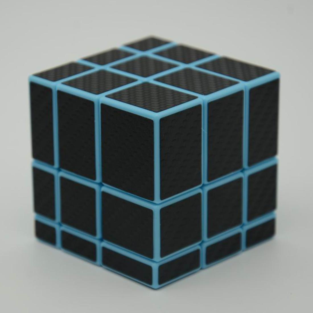 3x3x3 Mirror Blocks Carbon Fiber Sticker Magic Cube Puzzle Speed Cube 57mm