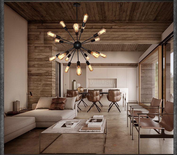 Lampada a sospensione Sputnik in ferro vintage Lampada a sospensione moderna Lampada da sospensione Atomic Starburst Light Chandelier casa ristorante hotel sala da pranzo