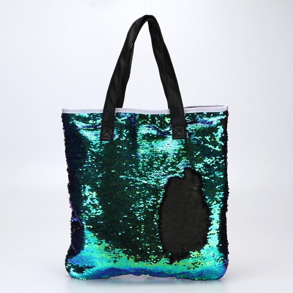 Nouveau Style Top Qualité Shopping Sac De Mode Fourre-Tout Casual Simple Paillettes Zipper Bolso De Compras 2017 Nouveau