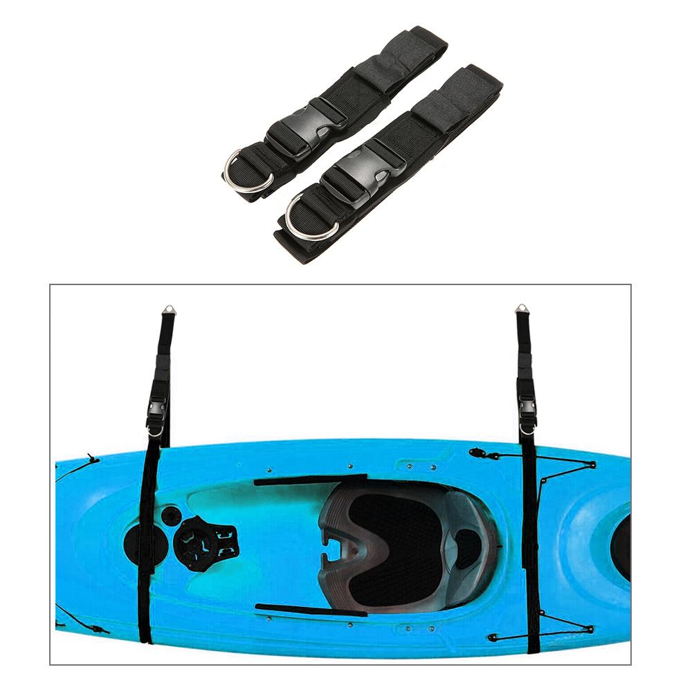 Kayak Wall Hanger >> 2pcs Kayak Wall Hanger Straps Webbing For Boat Kayak Sup Storage Wall Storage Strap Rack Hanger Boat Keeper Garage Black