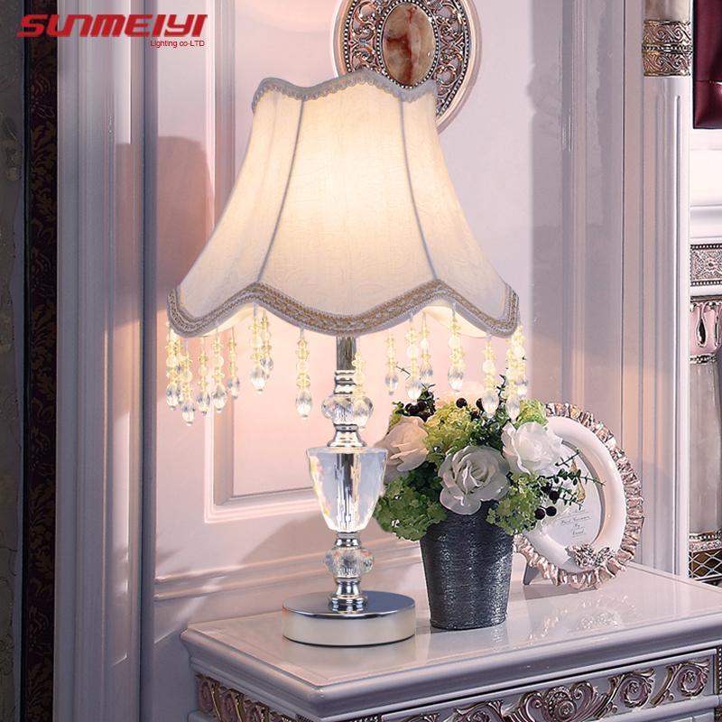 Desk Modern E27 Decoration Table Bedroom Bulb Lamps Lamp Crystal K9 Home Bedside Decor Lights X8wkn0OP