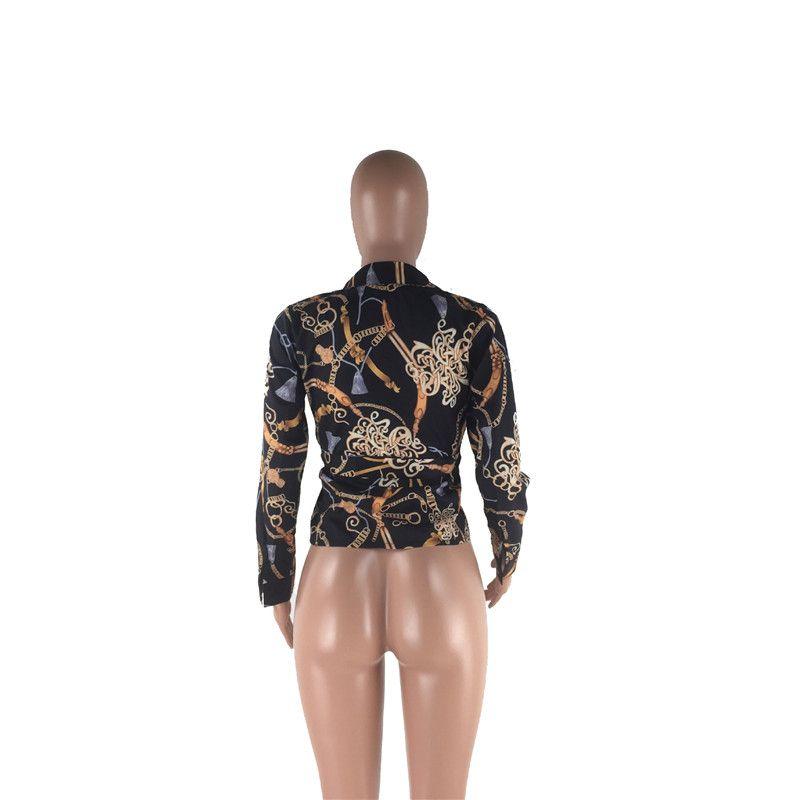 Новый стиль Женщины Блузы Pattern Цветочные Блуза Рубашки с длинным рукавом женщин Одежда Повседневный LadiesTurn-воротник блузки