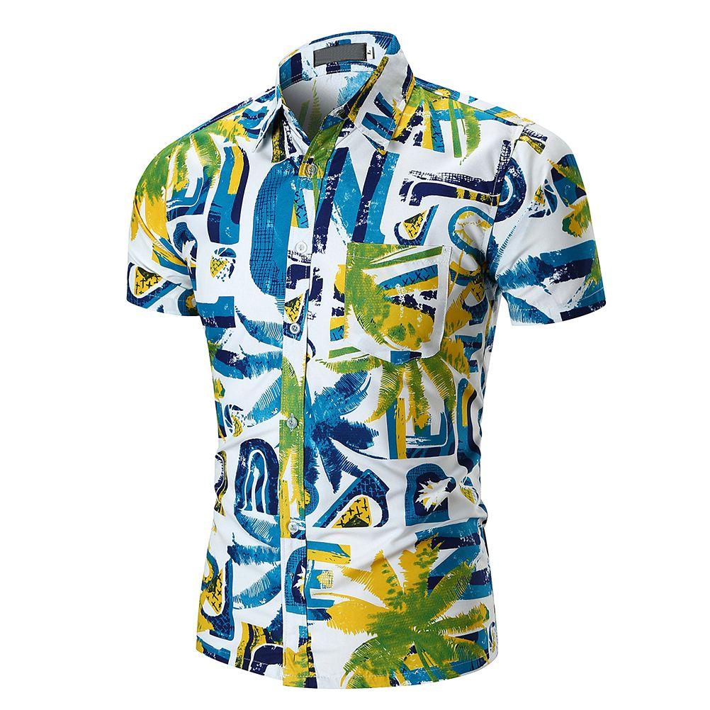 77c385a75 Breathable T-Shirts For Men Hawaiian Shirt Summer Style Printed Beach Shirts  Men's Casual Short Sleeve Hawaii Shirts
