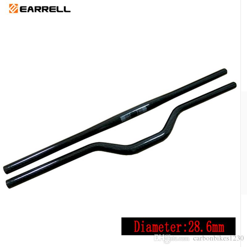 EARRELL Cycling Carbon Handlebar MTB Straight Flat/Riser Handle Bars Mountain Bike 28.6*690MM glossy Bicycle Handlebar