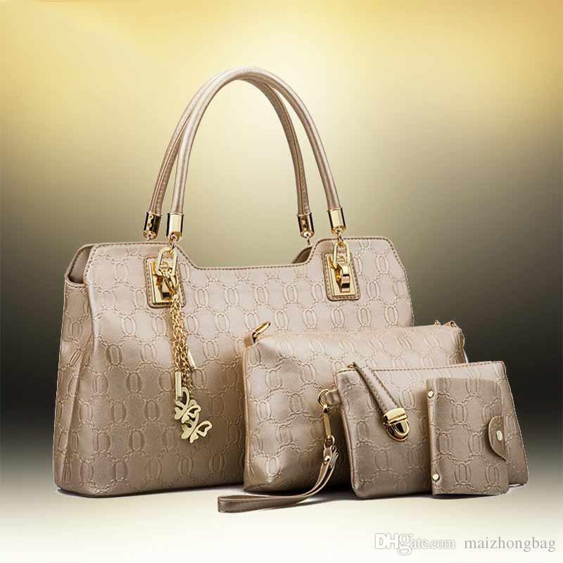 1524f4cffb 2017 New Fashion Set Women Designer Handbags Hot Sale Hand Bags Compasite  Bag Cross Body Bags Branded Bags Evening Bags From Maizhongbag