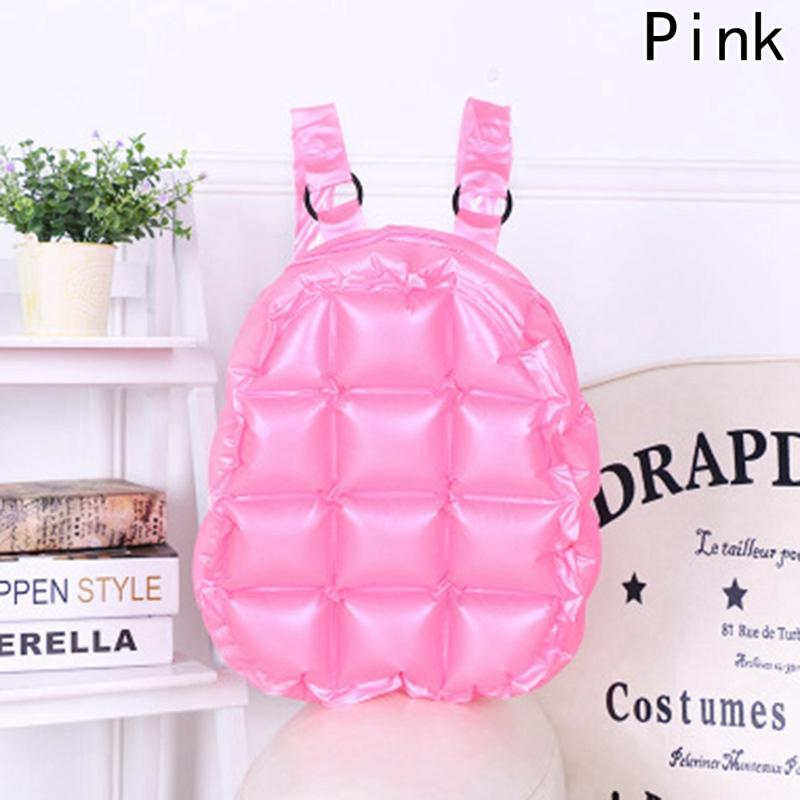 51f99fbb6bf Fashion Inflated Women Jelly Backpack Summer PVC Waterproof Candy Beach Bag  Girls Travel School Bag Lattice Shoulder Kids Backpacks Back Pack From  Fenxin, ...