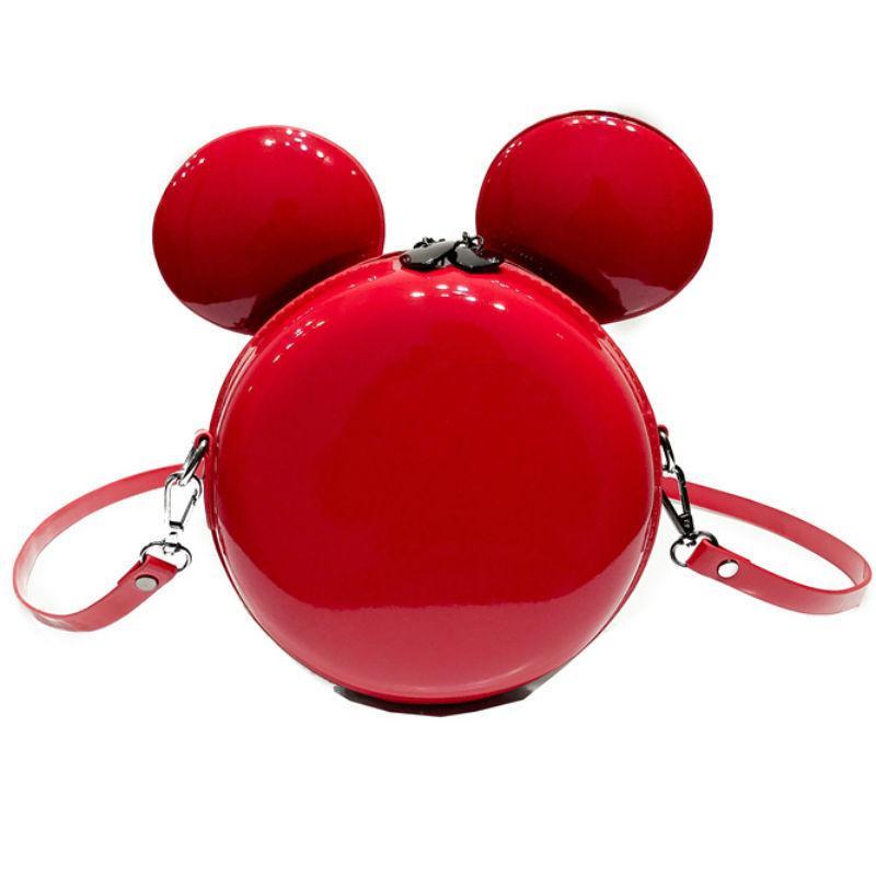 Big Brand Round Handbag Children Leather Scrub Messenger Bag Mini Mouse Ear  Shape Crossbody Bag Girls Daily Coin Purse Handbag Ladies Handbags Leather  ...
