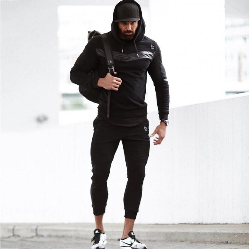 25d2df3e4ad2 Compre Chándal Jogger Sport Man Autumn Winter Running Gimnasio Sport Suit Para  Hombre Gimnasio Culturismo Hombres Hoodie + Pants Hombre Ropa Set A $122.26  ...