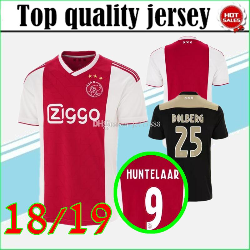 5e828ff306d 2019 Thai Quality New 18/19 Ajax FC Home Red&Whith Away Black&Gold Soccer  Jersey 2018 KLAASSEN MILIK NOURI Football Uniforms Shirts From Jc777888, ...