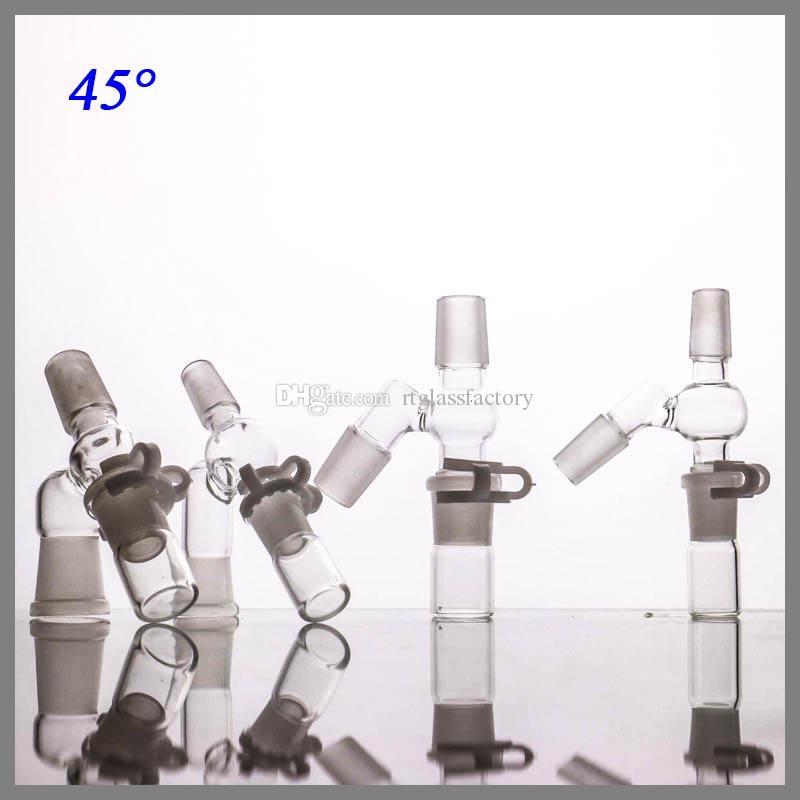 Autres accessoires fumeurs 4FEMALE Homme Reclaim Catcher Fabricant 14 et 18 mm 90 45 degrés Adaptateur Complete Re pour huile Trois parties Cet ensemble