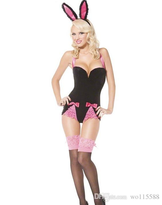447ebac863a New Sexy Lingerie Cosplay Halloween Nightclub Costume Stage Dress Lace Sexy  Bunny Sexy Lingerie Show Suit Game Suit Sexy Lingerie Halloween Online with  ...