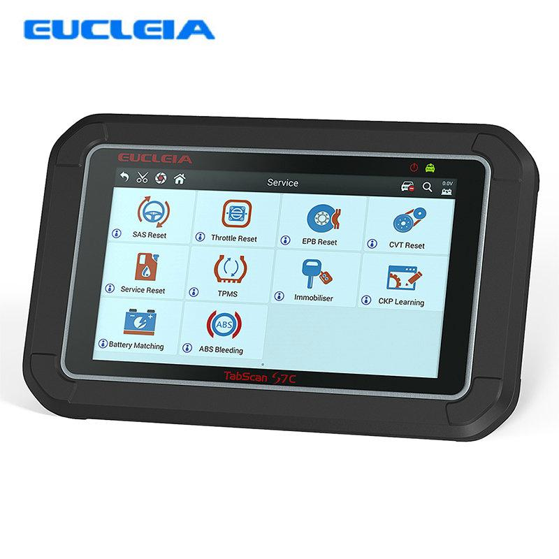 EUCLEIA S7C Full System Car Diagnostic Tool Professional OBD2 Auto Scanner  With DPF EPB TPMS Oil Service Reset For W212