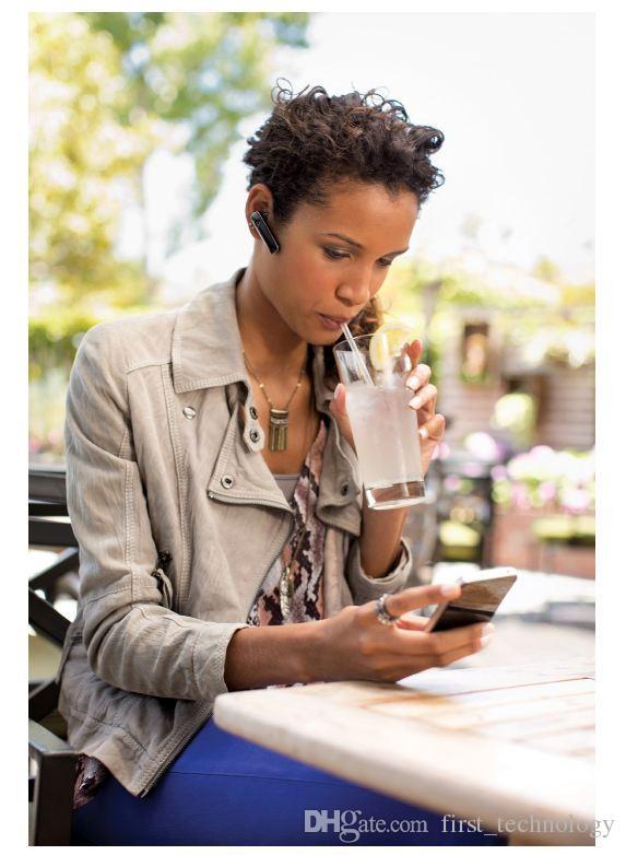 Oreillette Bluetooth 4.1 sans fil Ultralight M165 - Compatible avec iPhone, Android et autres smartphones de pointe avec boîtier de vente au détail