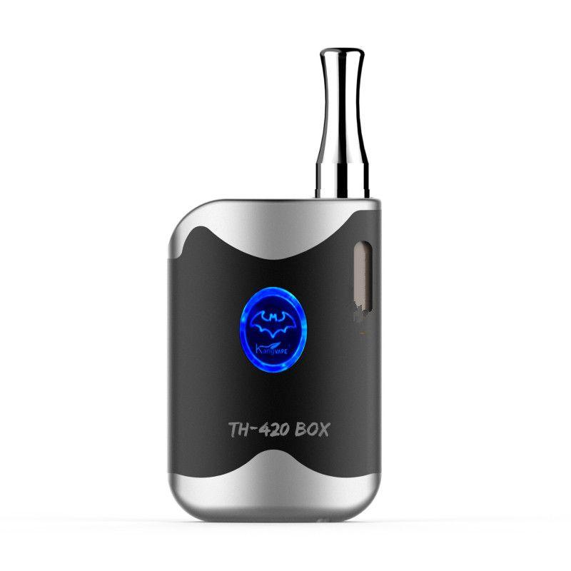 New KangVape TH-420 Box Starter Kit E Cigarettes 650mAh VV Battery with Preheat Function 0.5ml A3 G2 CE3 Cartridge Atomizer for Oil Vape Kit