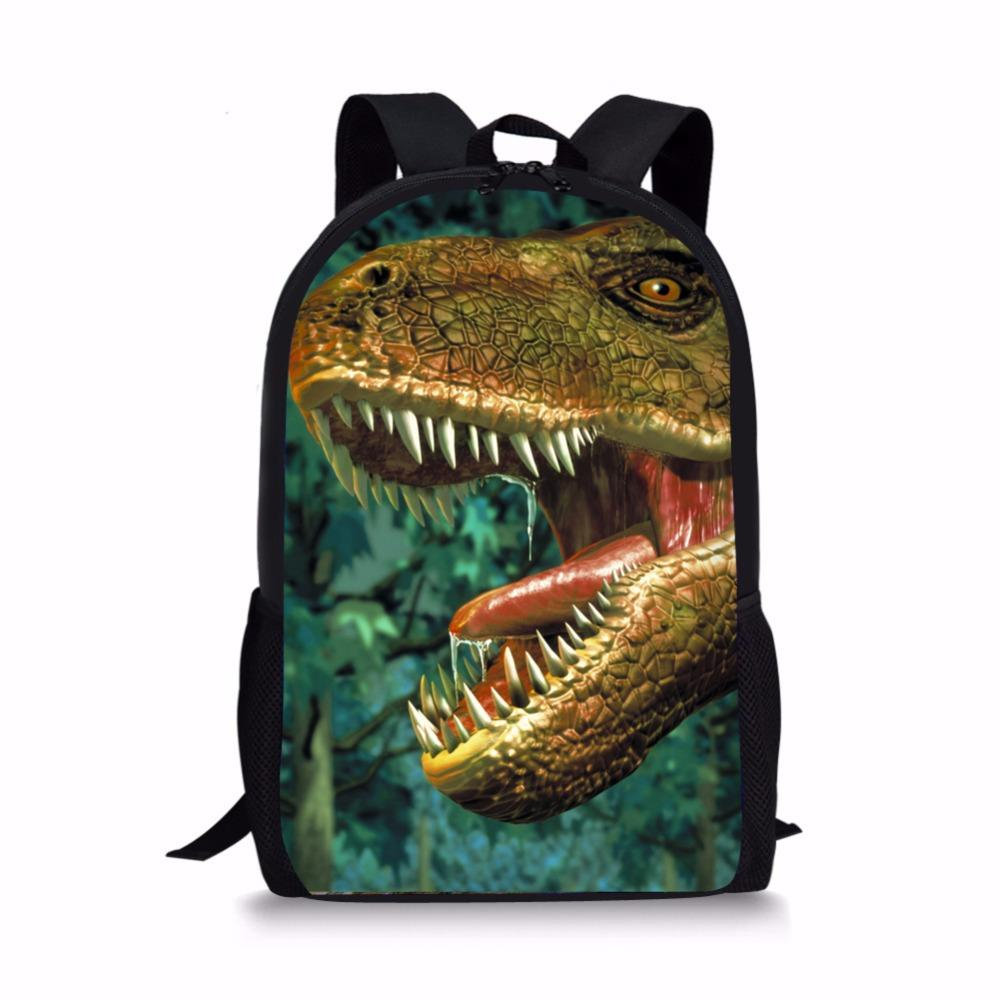3Set Children School Bag3D Dinosaur Animal Printing Backpack For Teenager Boy Backpacks Rugtas handkerchief Escolar Kids