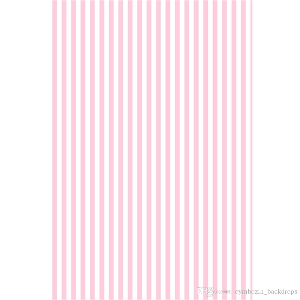 White Pink Stripes Backdrop for Photography Printed Baby Newborn Vinyl Photo Shoot Wallpaper Props Kids Birthday Party Booth Background