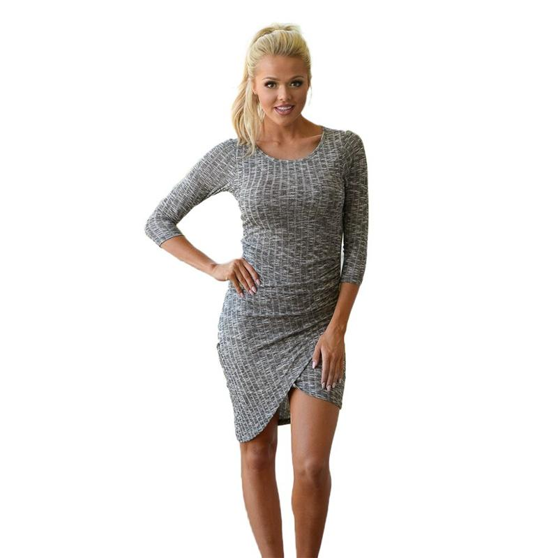 79a51f59829 2019 Women Dress Vestido Sexy Long Sleeve Plus Size Fashion Solid Knited  Slim Party Sweater Dresses Plus Size Vestidos Spring 2018 From Cover3127