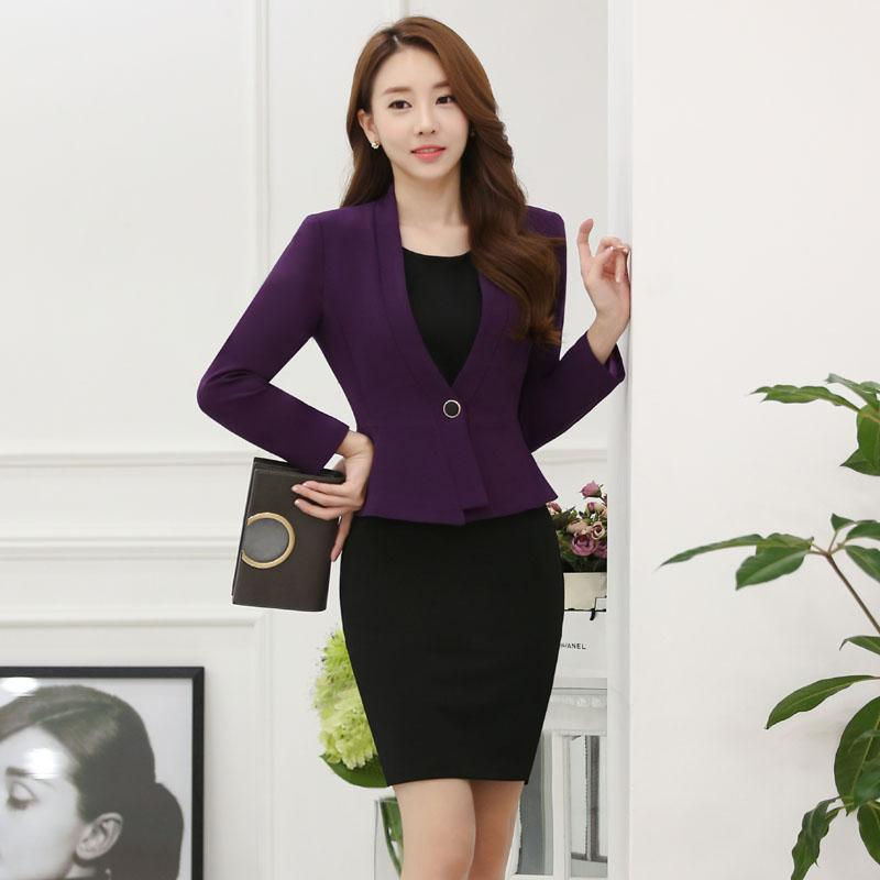 abae0f2b792 2019 2016 Professional Formal OL Styles Spring Autumn Business Women Suits  With Jackets And Dress Ladies Office Outfits Sets Uniforms From Dayup
