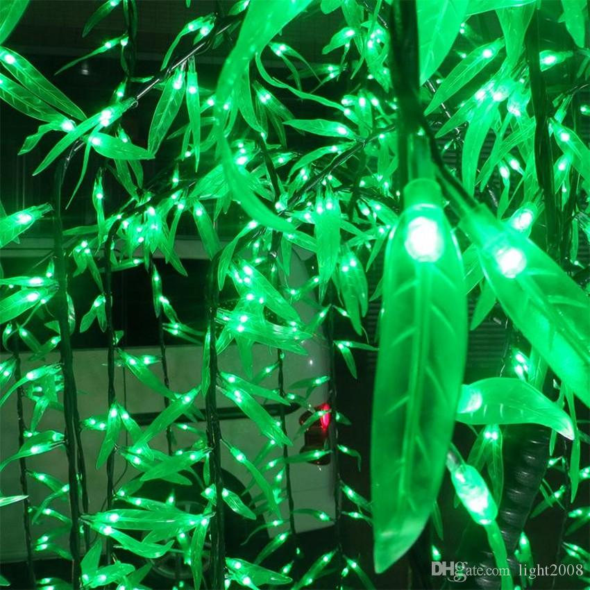 LED Willow Tree Light LED LEDs 2m/6.6FT Green Color Rainproof Indoor or Outdoor Use fairy garden Christmas Decoration.