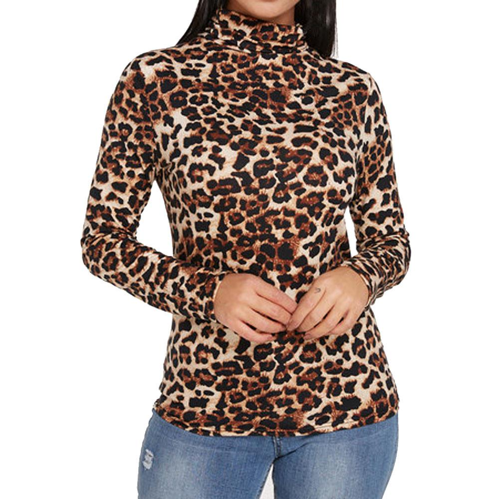 2019 Womens Tops And Blouses Vintage Leopard Print Long Sleeve Blouse 2018 Women  Clothes Ladies Tops Fashion Clothing From Beenlo 120db7cc9