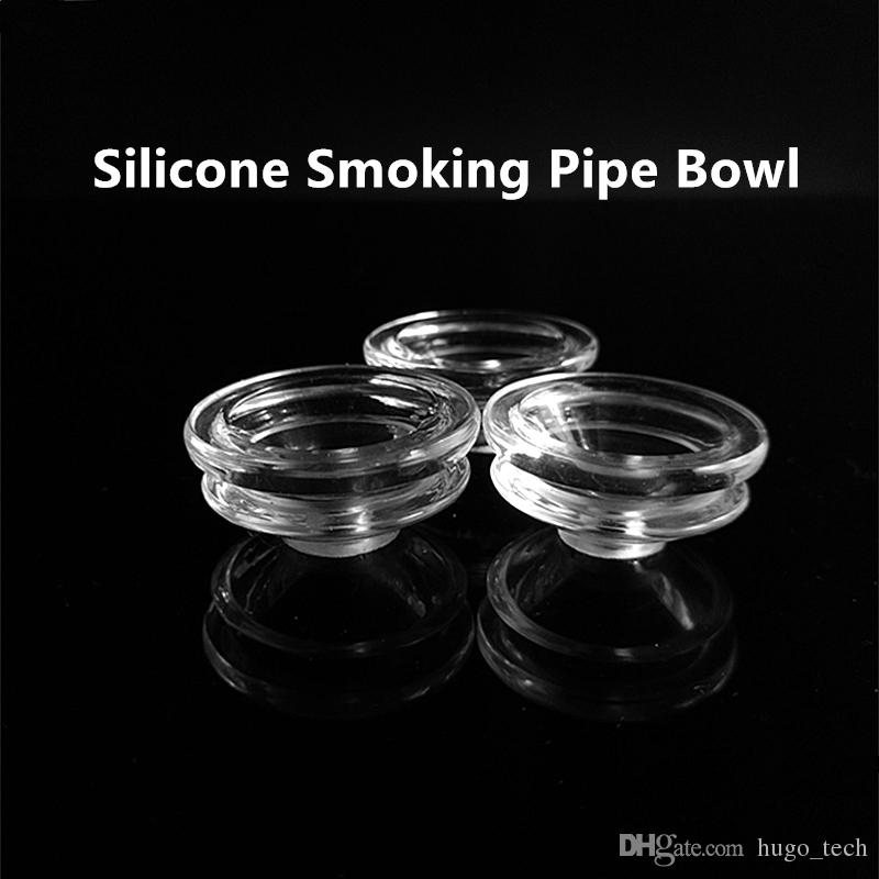 Creative Wholesale Silicone Smoking Pipes Silicone Bowl with Small Hole Heady Glass Accessories Oil Rig