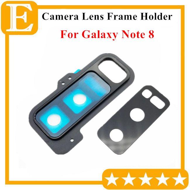 Nova parte traseira da lente da câmera de vidro com tampa do quadro titular para samsung galaxy note 8 n950 n950f universal peças de reposição