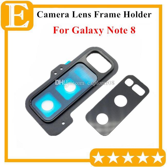 Nuovo posteriore posteriore Obiettivo della fotocamera in vetro con coperchio del telaio Samsung Galaxy Note 8 N950 N950F parti di ricambio universali 10 PZ