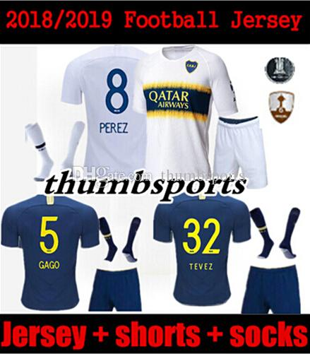 d32981d28 Thailand Men Kit 2018 2019 Boca Juniors Soccer Jerseys GAGO CARLITOS HOME  AWAY Football Jersey Shirts Boca Junior 18 19 Camiset From Thumbsports, ...