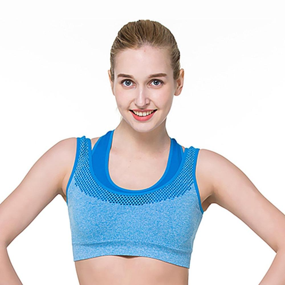 5cfd326775bf5 2019 NEW Womens Sport Bra Fitness Yoga Running Vest Underwear Padded Crop  Tops Underwear No Wire Rim Bras Female From Bingquanwat